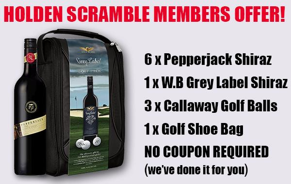 PEPPERJACK SHIRAZ & WOLF BLASS GREY LABEL GOLF BAG