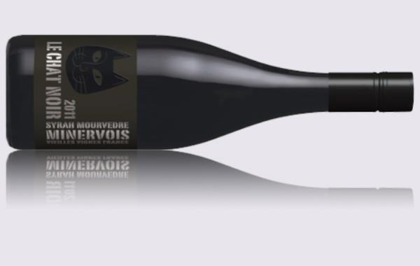 LE CHAT NOIR MINERVOIS ORGANIC SYRAH 2011 - CASE OF 6